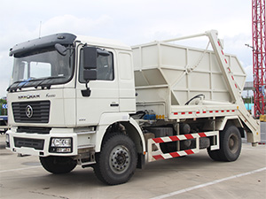 Swept-body Refuse Collector / SHACMAN F2000 Swing Arm Garbage Truck