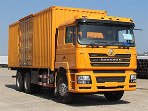 Steel Box Cargo Truck / SHACMAN F3000 6*4 heavy duty cargo truck